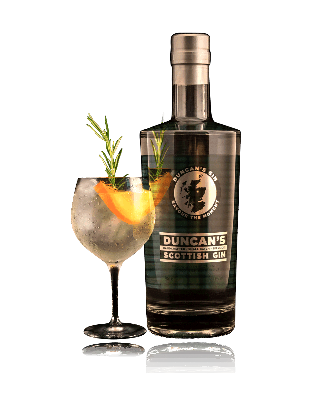 Duncans Gin Bottle Plus Glass